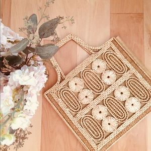 Handbags - Vintage Weaved Basket Straw Boho Bag
